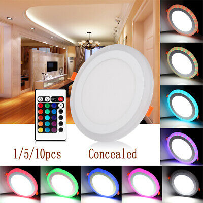 LED Lighting Panel Ceiling Down Light Ultra Slim Round Dual Color Lamp Kitchen