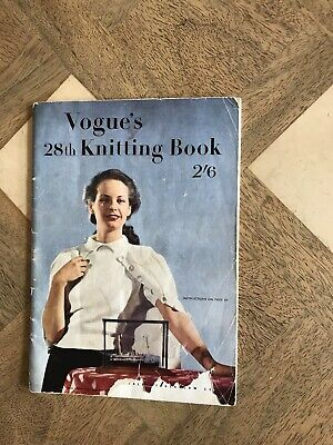 VINTAGE 1940s VOGUE KNITTING NO 28 -60 PAGES - FASHION ADVERTS
