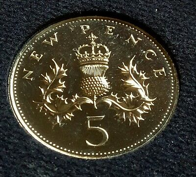 5p Five Pence Coin 1971 brilliant UNCIRCULATED condition  BU