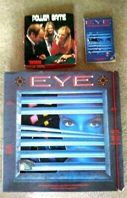 The Eye Rare Board Game Complete With additional book and Power Game