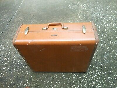 Vintage Samsonite Leather Suitcase Luggage 1950s 60s
