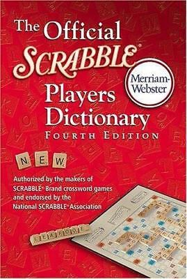 The Official Scrabble Players Dictionary Fourth Edition by Merriam-Webster