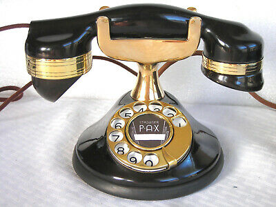 Automatic Electric Early Tall Cradle Dial Restored Antique Desk Telephone 1925