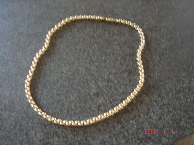 9ct Yellow  Gold Belcher Chain 16-7g - 18 inches length not scrap