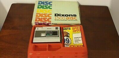 Vintage 1980s 90s Dixons 1500 Disc Slimline Automatic Camera outfit.