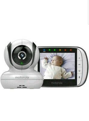 Motorola MBP36S Video Baby Monitor Digital 3.5 Inch Colour Screen Sound in Box