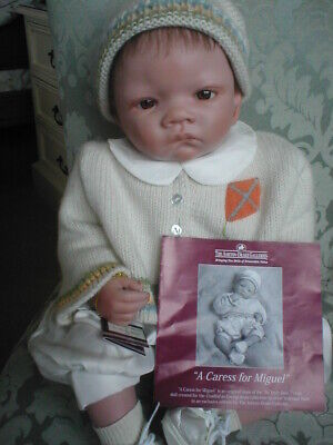 Ashton Drake Baby Doll Waltraud Hanl's A Caress For Miguel Long retired