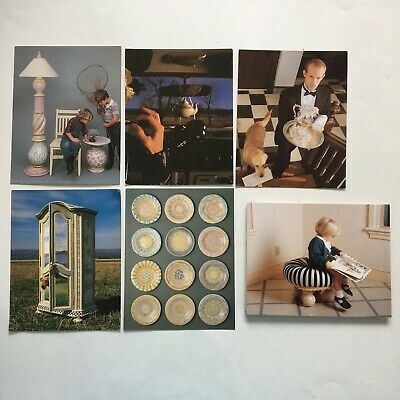 MacKenzie Childs Lot of 5 1990s Unused Postcards Plus Fold-out Boy on Tuffet