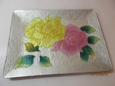 Vintage Japanese Cloisonne Enamel Shippo Ando Plate-Embossed & Hand Painted