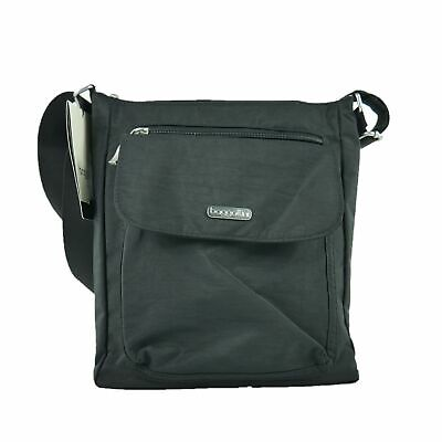 42ae4a5a2 New Baggallini Pocket Town Bagg Crossbody Organizer Bag Purse Solid Black  Nylon