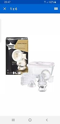 Tommee Tippee Manual Breast Pump Breastfeeding Baby Milk Newborn Free P&P