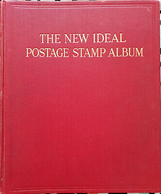Red NEW IDEAL album, British Empire. Good ranges throughout.1600 stamps.