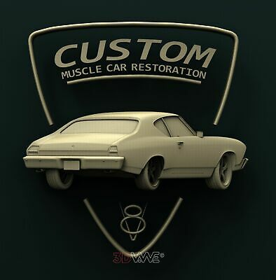 3d STL Model Relief for CNC Router _ Muscle Car _0627