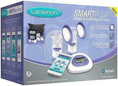 Lansinoh Smartpump Double Electric Breast Pump, Connects to Lansinoh Baby App