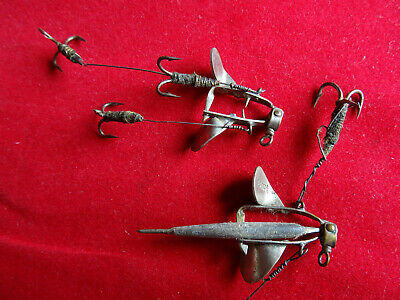 A Pair Early Vintage Small Hardy Crocodile Bait Mount Lures