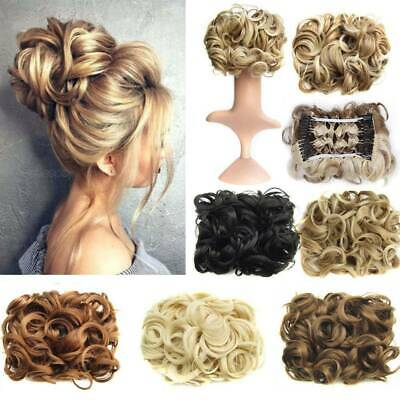 Beauty Hair Bun Chignon Two Plastic Comb Wave Curly Synthetic Hair Easy Use
