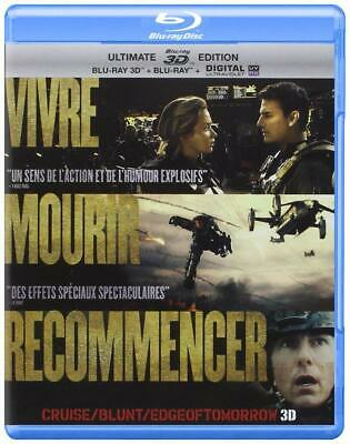 VIVRE MOURIR RECOMMENCER  EDGE OF TOMORROW Blu-ray 3D + Blu-ray + DVD