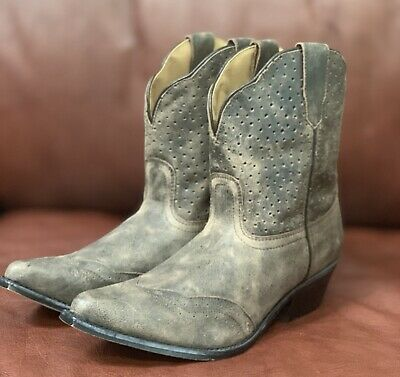 a7bebc311bb SMOKY MOUNTAIN BOOTS Womens Wisteria Brown Leather Fringe - $43.99 ...