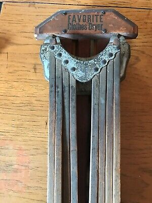 Antique Primitive Wall Mount Clothes Drying Rack The Favorite 8 Arms