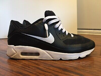Nike Air Max 90 Ultra Essential, 819474-010, Mens Black Running Shoes, Size 10.5