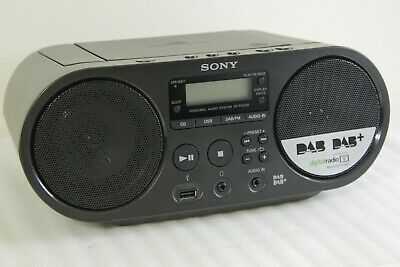 Sony ZS-PS55B CD Boombox DAB+ & FM Radio with MP3 WMA USB Playback Black