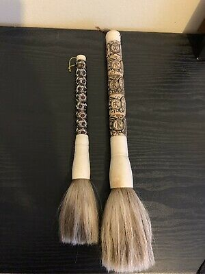 Asian Bovine Carved Calligraphy Art Brush