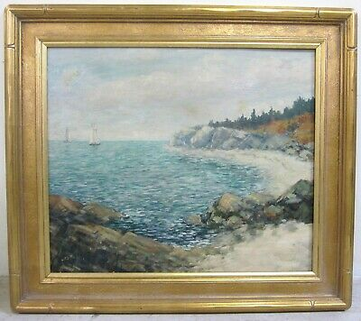 CHARLES DUNCAN RODICK Signed Maine Massachusetts Oil Painting Coastal Seascape
