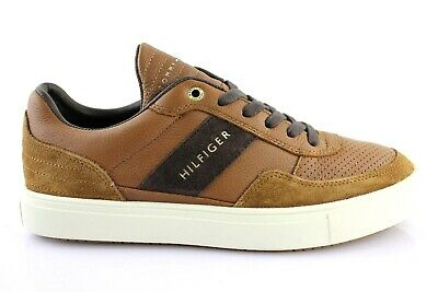 TOMMY HILFIGER BASKETS Hommes Bas Cuir Sauvage Chaussures
