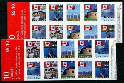Weeda Canada BK317a, 317Aa VF MNH booklets, F & TRC papers CV $27