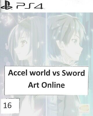 ACCEL WORLD vs. SWORD ART ONLINE [PS4] Game - Sony PlayStation 4 (UK PAL) NO ART