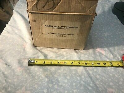 Plastaket Champion Juicer Grain Mill attachment in box early all Steel version