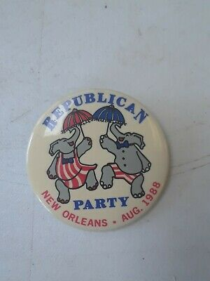 """Republican National Convention New Orleans 1988 Collector Button Badge 2 1/4"""""""