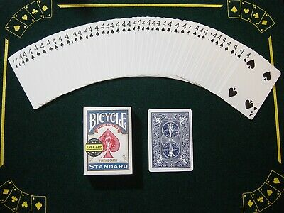 One Way Force Deck - Blue Bicycle - 4 Of Spades - 52 Cards All The Same - New