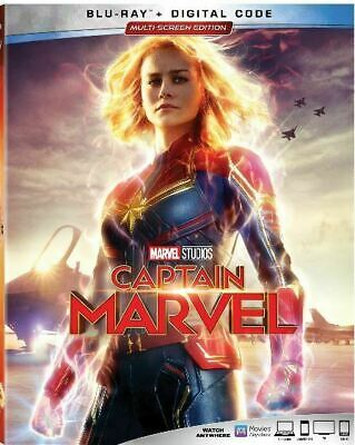 Captain Marvel Blu-Ray + Slipcase Like-New No Digital Free Shipping End Game
