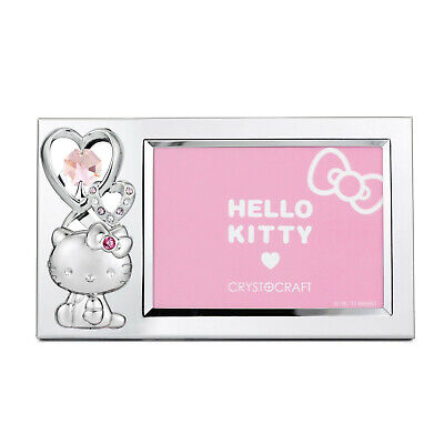 CRYSTOCRAFT Hello Kitty - Crystal Photo Frame with Swarovski Crystals