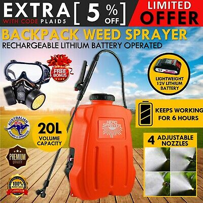 New 20L Electric Backpack Sprayer Rechargeable Farm Garden Pump Spray Weed 12V