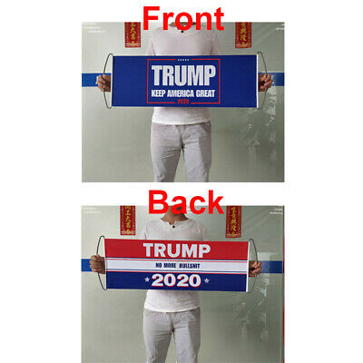 Donald Trump 2020 Flag Double Sided Printed Keep America Great No More Bullshit