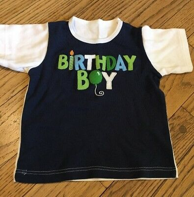 BIRTHDAY BOY Baby Toddler Blue Shirt Size 12 months
