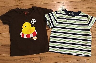 Carter and more Lot of 2 Baby Toddler Boy Shirts Size 12 months 12M