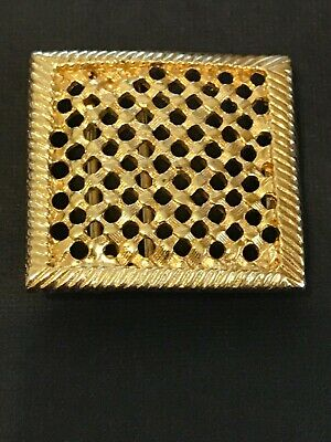 "Vintage Women's  Belt Buckle Hashtag Pattern Gold-tone EUC fits belts 1 1/4"" NEW"