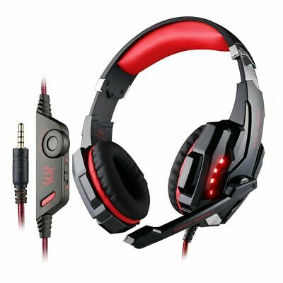 EACH G9000 3.5mm Gaming Headset MIC Red LED Headphones for Laptop PS4 Xbox One