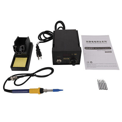 937D+ Electric Iron Soldering Station SMD Welder Welding w 5 Soldering Iron Tips