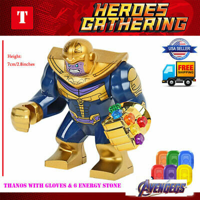 THANOS Infinity Gauntlet 7CM MARVEL COMICS MINI FIGURE  CAN PLAY WITH LEGO`S