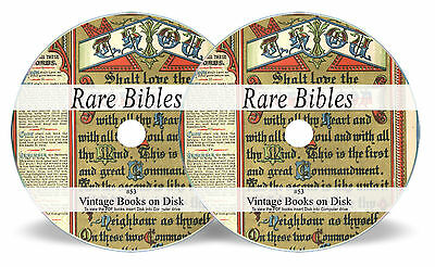Bibles Rare Ancient Antique on 2 DVDs  Douay-Rheims Coverdale Psalter Bishops 53