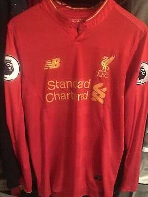 huge discount 015a9 335b2 FC LIVERPOOL HOME Jersey 2016/2017 New Balance S Long Sleeve With Patches