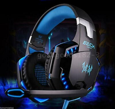 G2000 Stereo Gaming Headphone Headset Headband + Mic LED For PC Games PS4 Xbox