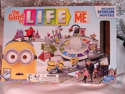 Despicable Me Minion -The Game of Life -Board Game COMPLETE  MINT CONDITION  EUC