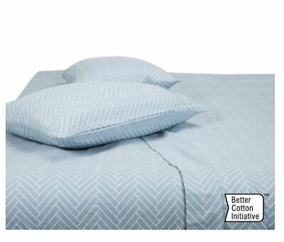 Tile Flannelette Cotton Sheet Set Queen Bed Fitted Sheets Pillowcases Home Decor