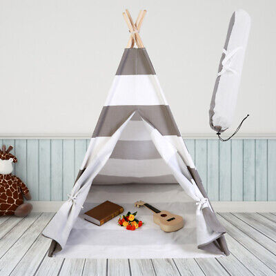 UK Large Cotton Canvas Kids Teepee Tent Childs Wigwam Indoor Outdoor Play House
