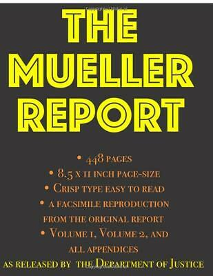 The Mueller Report by Department of Justice Part I and II Paperback 2019 New US